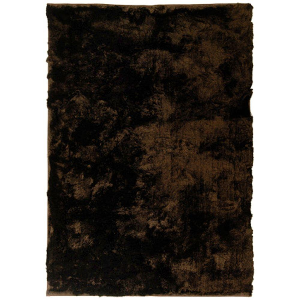 Home Decorators Collection So Silky Chocolate 4 ft. x 5 ft. Area Rug