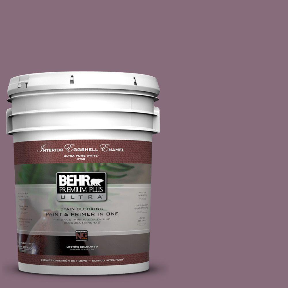BEHR Premium Plus Ultra 5-gal. #S110-6 Plum Royale Eggshell Enamel Interior Paint