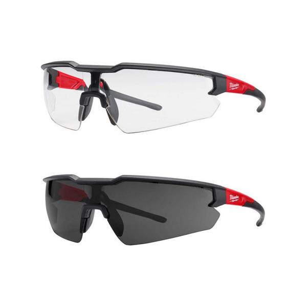 Safety Glasses with Clear/ Tinted Lenses (2-Pack)