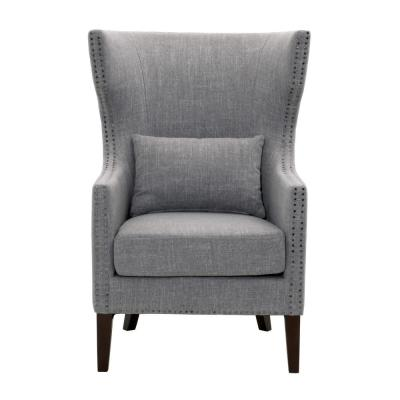 Bentley Smoke Grey Upholstered Arm Chair
