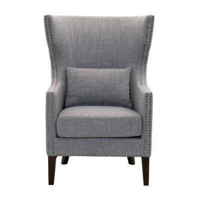 Bentley Smoke Grey Linen Upholstered Arm Chair