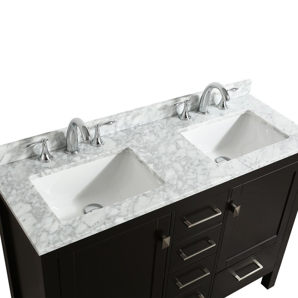 Transitional Espresso Bathroom Vanity
