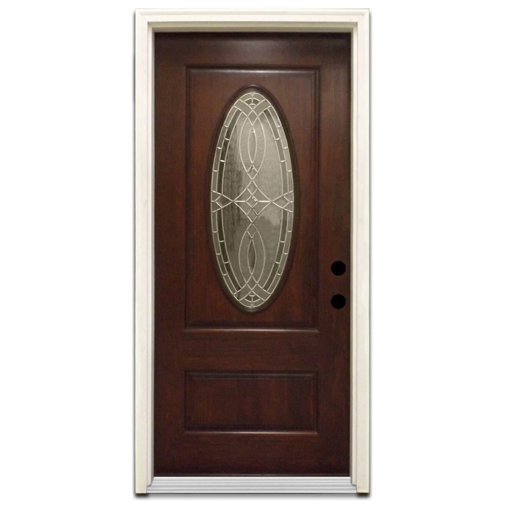 Steves & Sons 36 in. x 80 in. Appleton Stained Hardwood Prehung Front Door