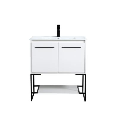 Timeless Home 30 in. W x 18.31 in. D x 33.46 in. H Single Bathroom Vanity in White with Porcelain