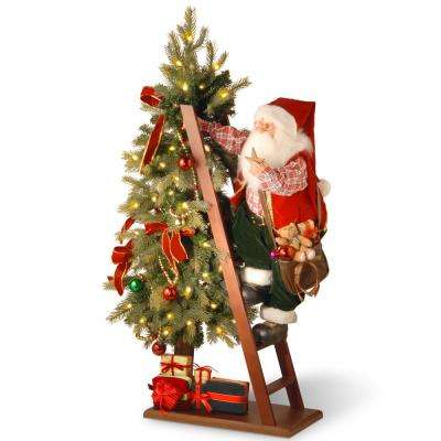 Plush 42 in. Santa and Tree with Lights