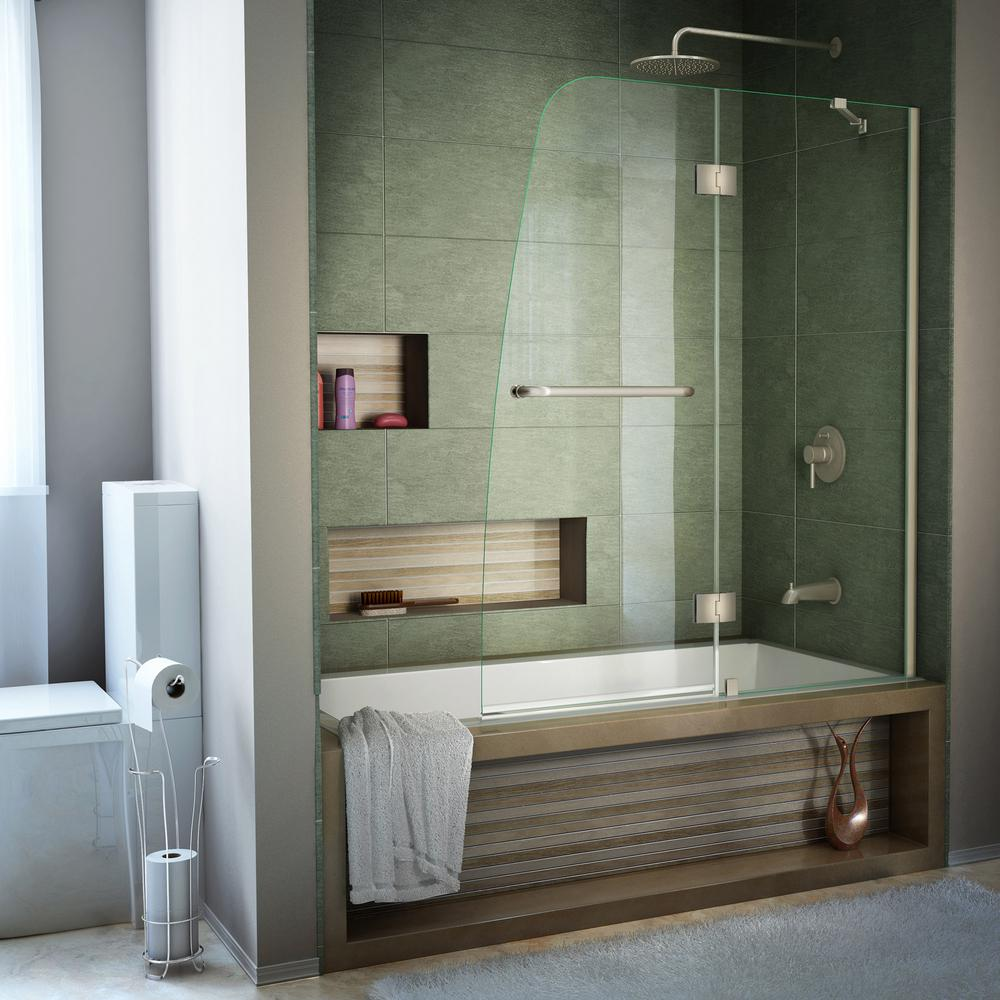 Semi Frameless Pivot Tub Door In