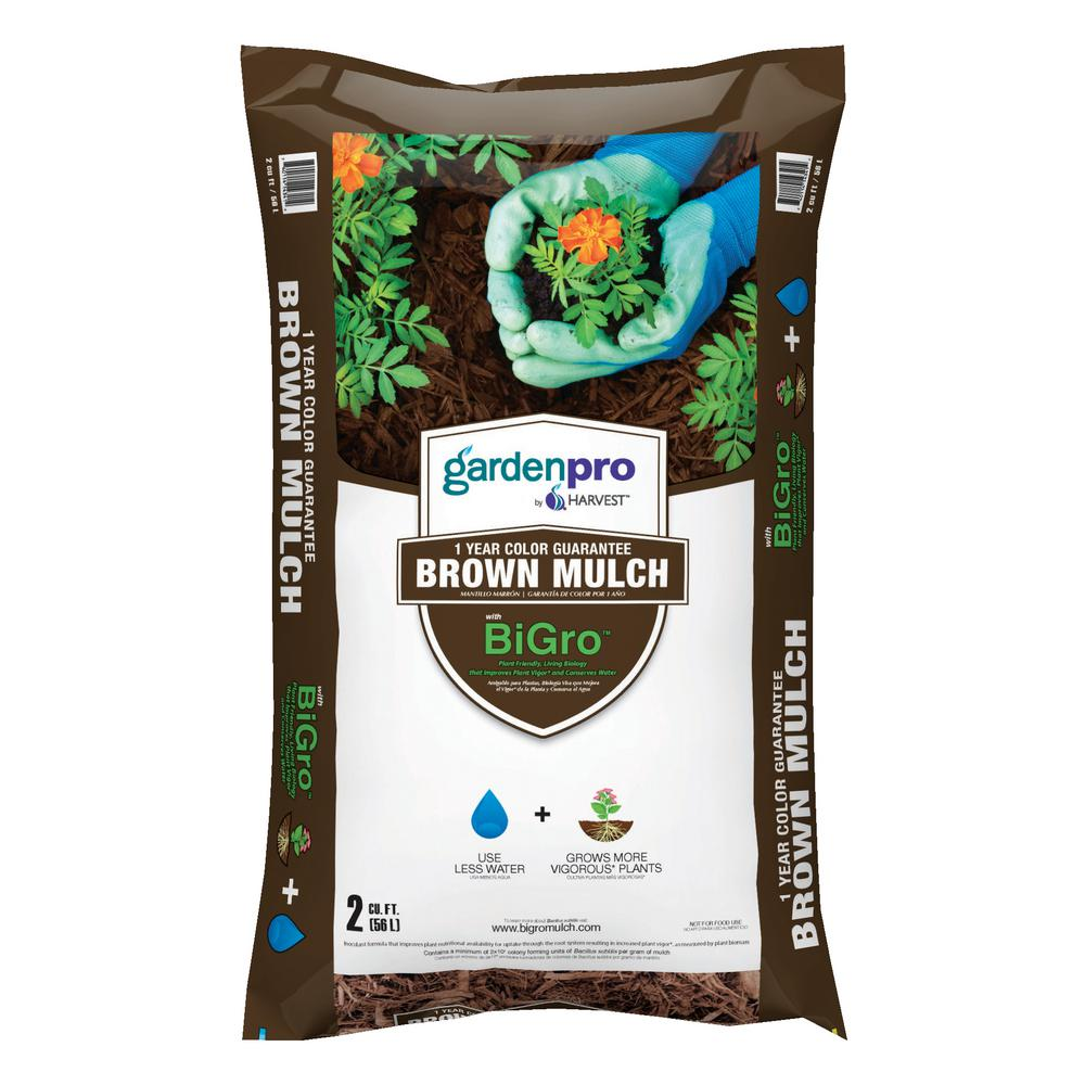 2 cu. ft. Brown Colored Mulch with BiGro