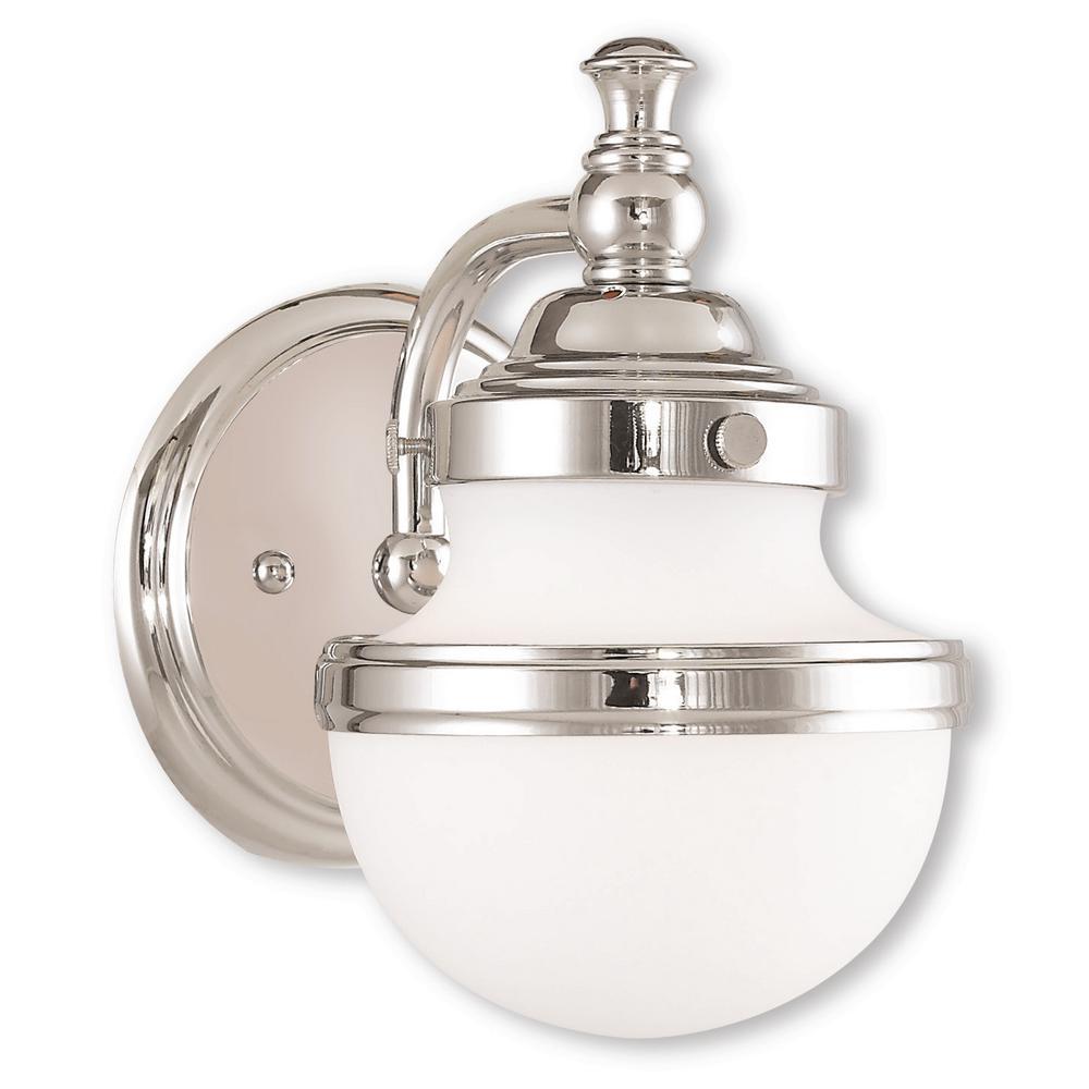 Oldwick 1-Light Polished Chrome Bath Light