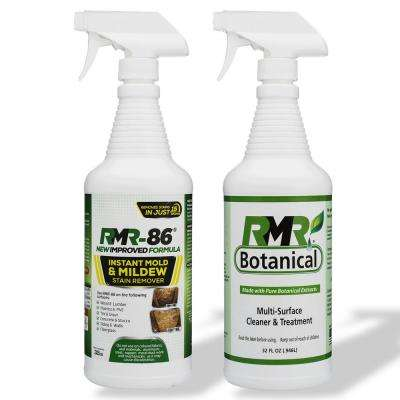 32 oz. Instant Mold Stain Remover and Botanical Multi- Surface Cleaner and Treatment (2-Pack)