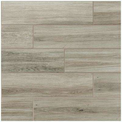 QuicTile 6 in. x 24 in. River Wood Matte Porcelain Locking Floor Tile (10.2 sq. ft. / case)