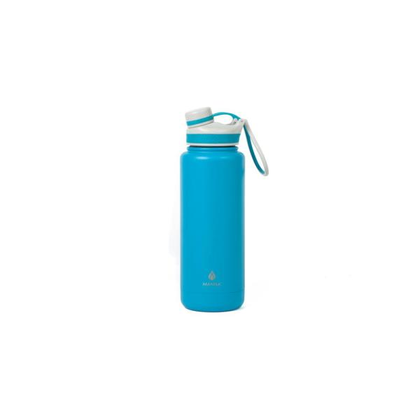 006b89f238 Manna Ranger Pro 40 oz. Teal Double Wall Stainless Steel Bottle ...