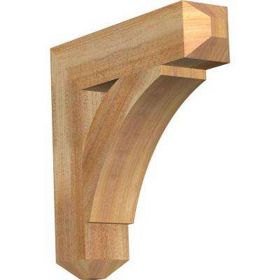 4 in. x 18 in. x 18 in. Western Red Cedar Thorton Craftsman Rough Sawn Bracket
