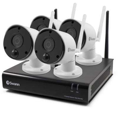 1080p Wi-Fi NVR 4 Channel and 4 Wi-Fi Cameras with Swann's True Detect Technology