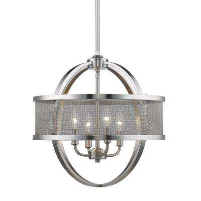 Colson PW 4-Light Pewter Chandelier