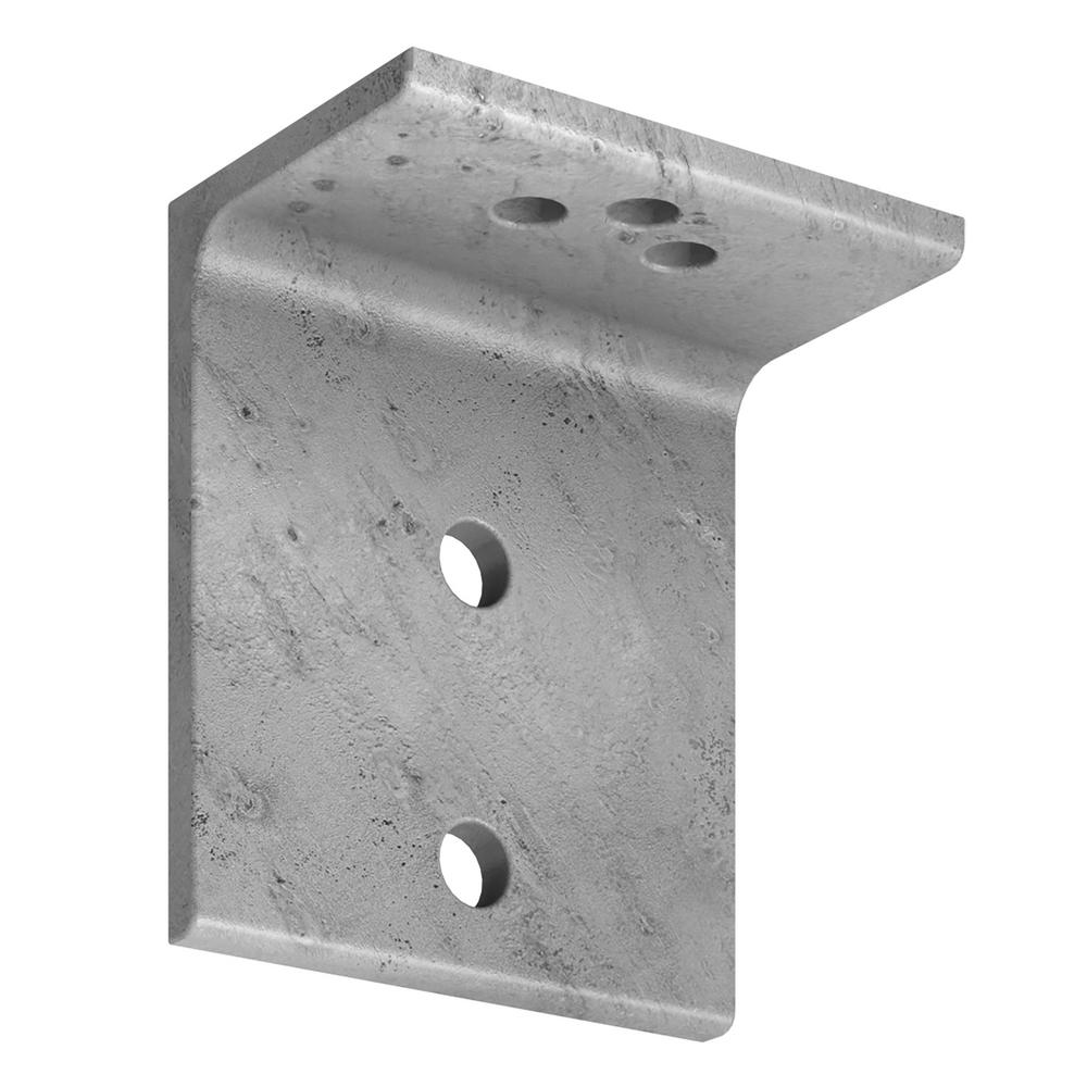3-1/2 in. x 6 in. Hot-Dip Galvanized Elevated Deck Angle