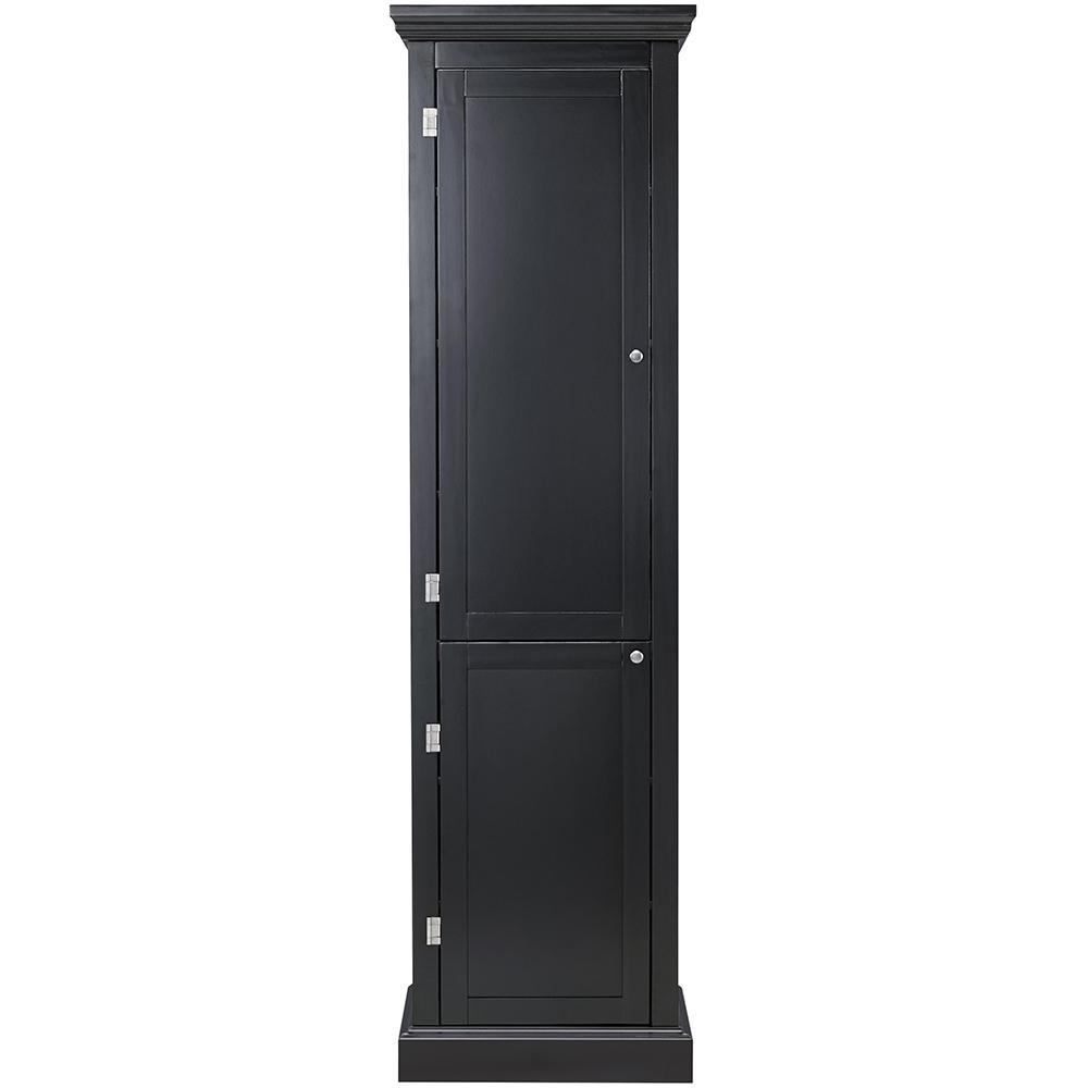Prescott Black Modular Kitchen Pantry With 2 Doors 9950500210 The Home Depot