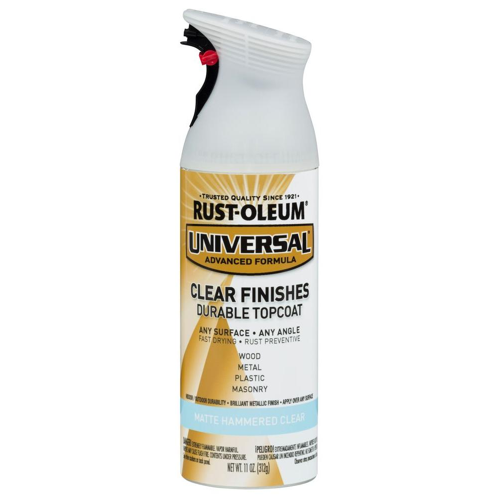 Rust Oleum Universal 11 Oz All Surface Matte Hammered Clear Topcoat