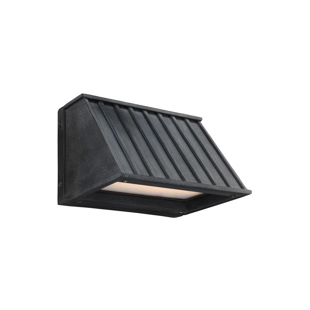 Tove Dark Weathered Zinc Outdoor LED Wall Fixture