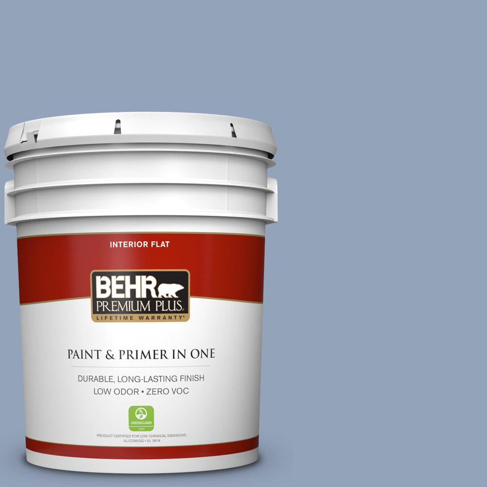 BEHR Premium Plus 5-gal. #580F-4 River Valley Zero VOC Flat Interior Paint