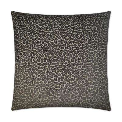 Panter Grey Feather Down 24 in. x 24 in. Standard Decorative Throw Pillow