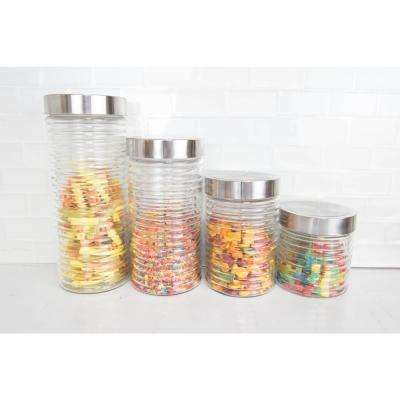 4-Piece Beehive Glass Container Set