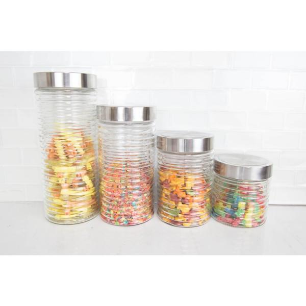 4-Piece Beehive Glass Container Set CS45533