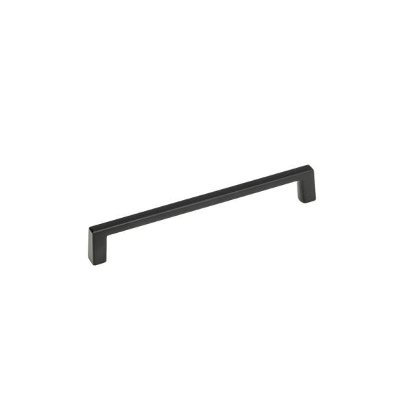 6 in. (152 mm) Center-to-Center Matte Black Contemporary Drawer Pull