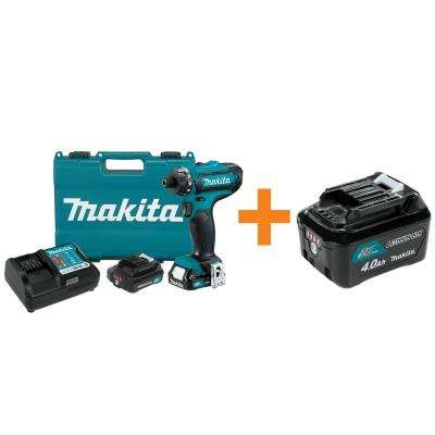 12-Volt Max CXT 1/4 in. Hex Cordless Driver-Drill Kit with 2 Battery (2.0Ah) Charger and Hard Case/Bonus 4.0Ah Battery
