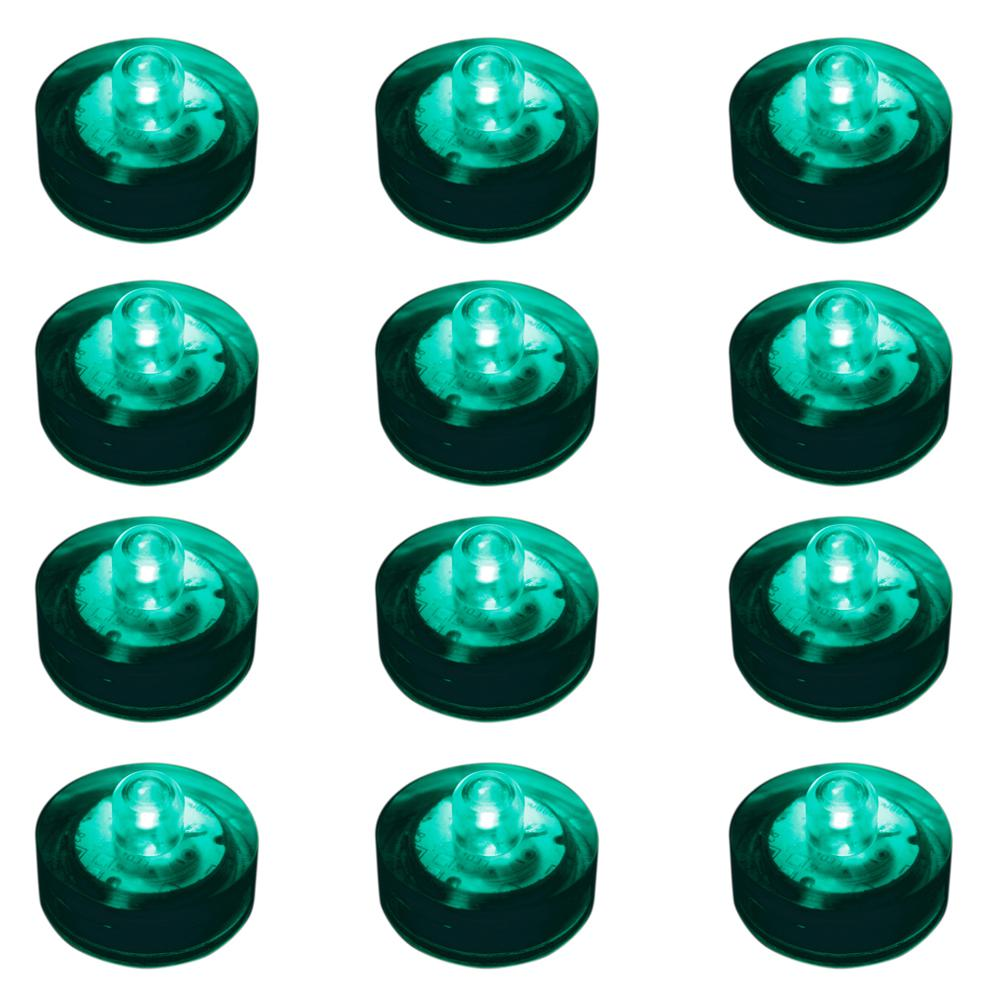 Lumabase Teal Submersible LED Lights (Box of 12)