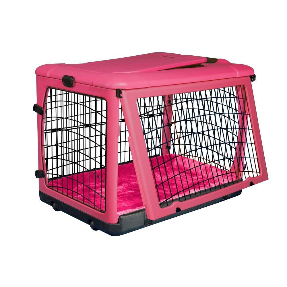 Pet Gear 27 in. x 18.25 in. x 21.75 in. The Other Door Steel Crate with Plush Pad