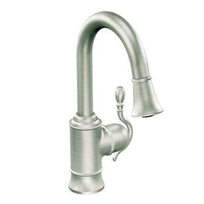 Woodmere Single-Handle Bar Faucet Featuring Reflex in Spot Resist Stainless with Pull-Down Sprayer
