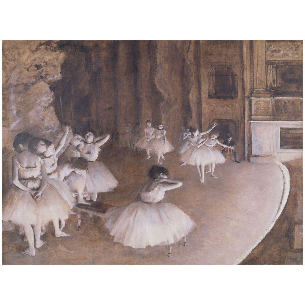26 in. x 32 in. Ballet Rehearsal 1874 Canvas Art