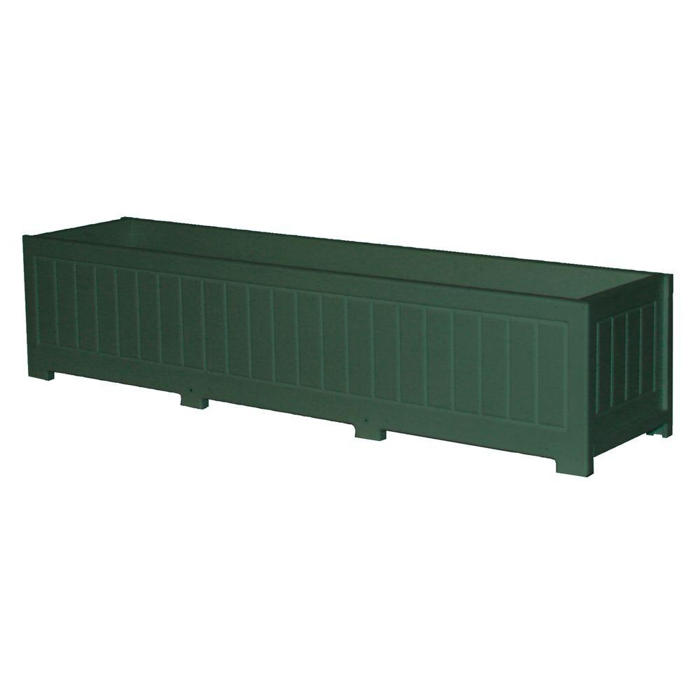 Eagle One Catalina 48 in. x 12 in. Green Recycled Plastic Commercial Grade Planter Box