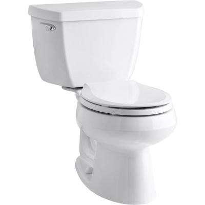 Wellworth Classic 2-Piece Single Flush 1.28 GPF Round Front Toilet in White with Cachet Q3 Toilet Seat