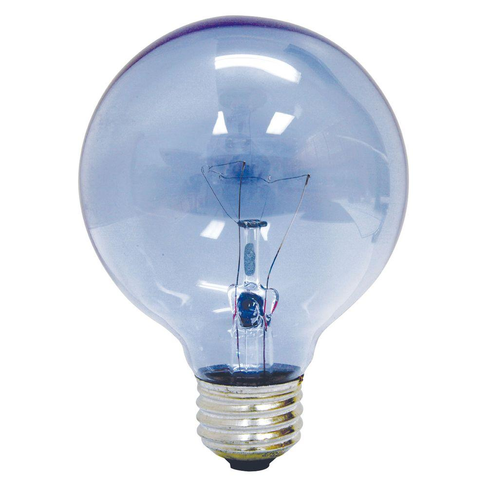 GE Reveal 60-Watt Incandescent G25 Globe Clear Reveal Light Bulb