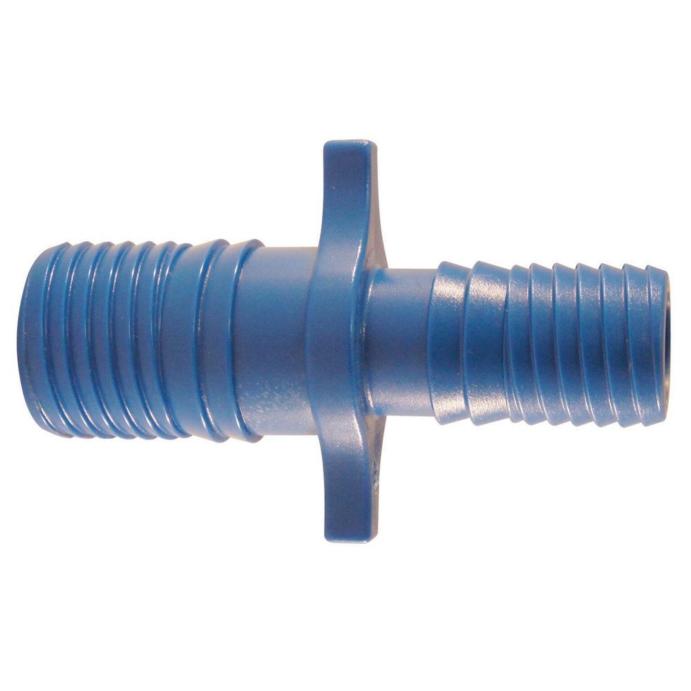 1 in. x 3/4 in. Blue Twister Polypropylene Insert Coupling