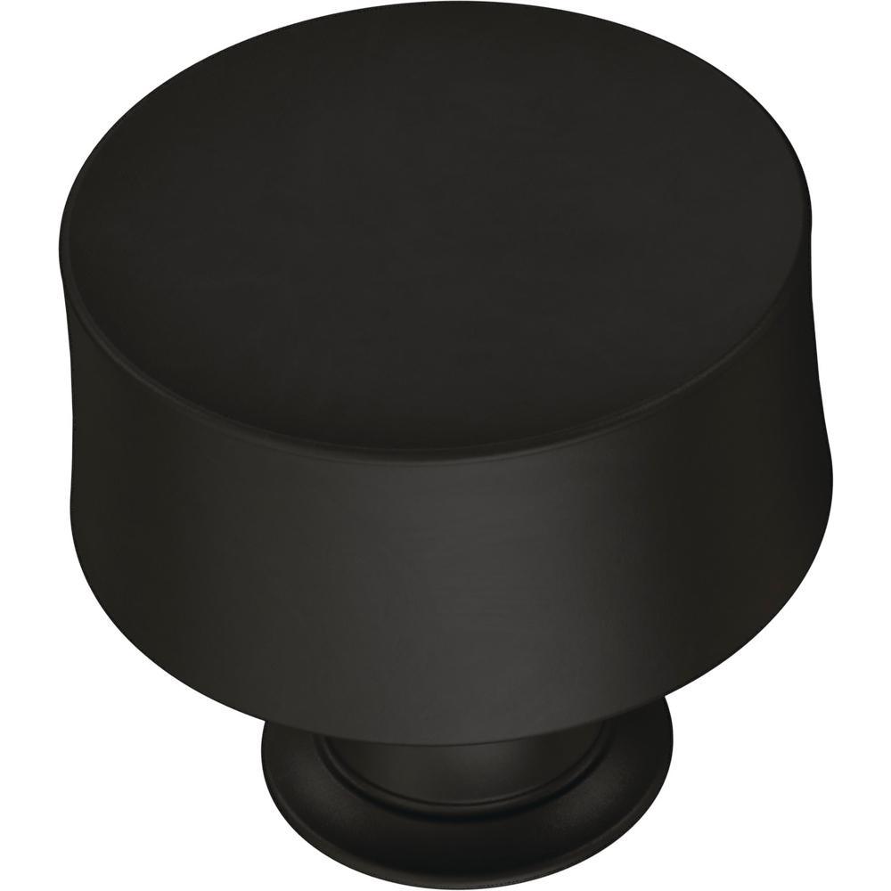 Drum 1-1/4 in. (32 mm) Flat Black Cabinet Knob
