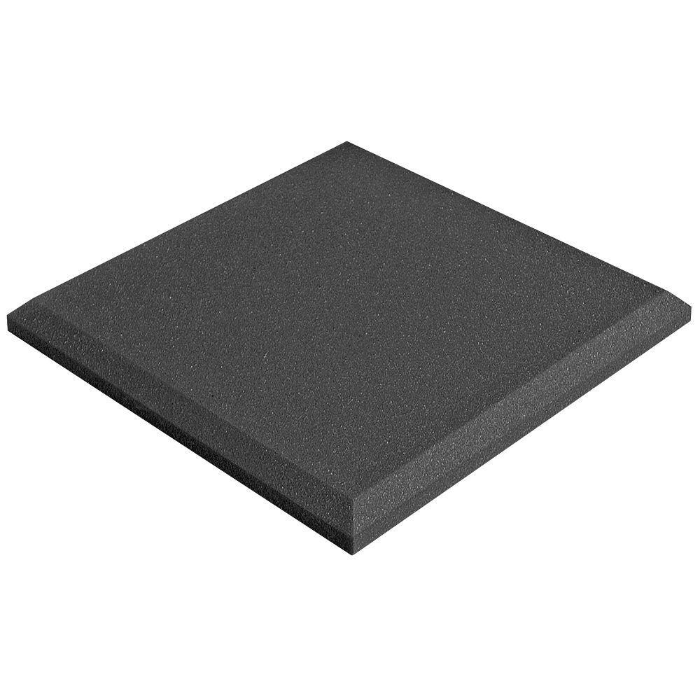2 in. x 24 in. x 24 in. Studiofoam Panels - Charcoal (4-Pack)