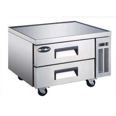 36.5 in. W 6.5 cu. ft. Commercial Chef Base Refrigerator in Stainless Steel