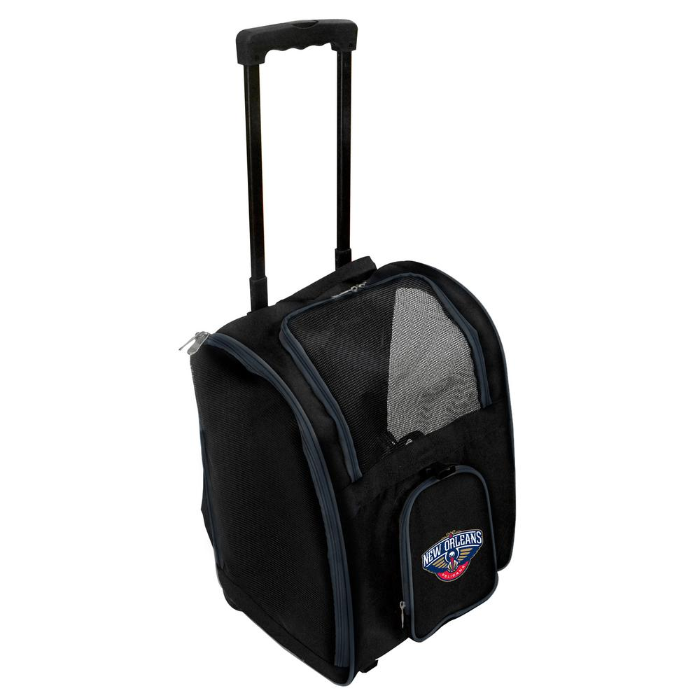 NBA New Orleans Pelicans Pet Carrier Premium Bag with wheels in