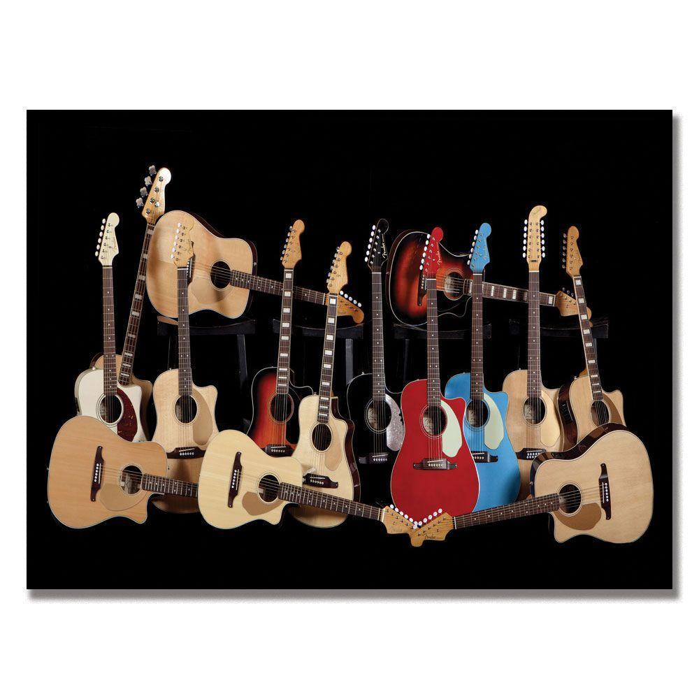 Trademark Fine Art 24 in. x 32 in. Fender Acoustic Canvas Art
