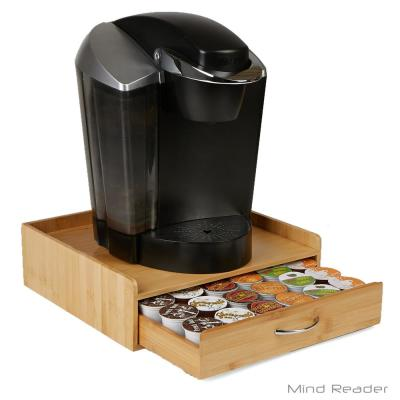 K-Cup Drawer with Lip Panel Holds 32 K-Cups in Bamboo Brown