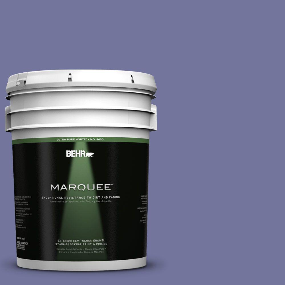 BEHR MARQUEE 5-gal. #630D-6 Palace Purple Semi-Gloss Enamel Exterior Paint