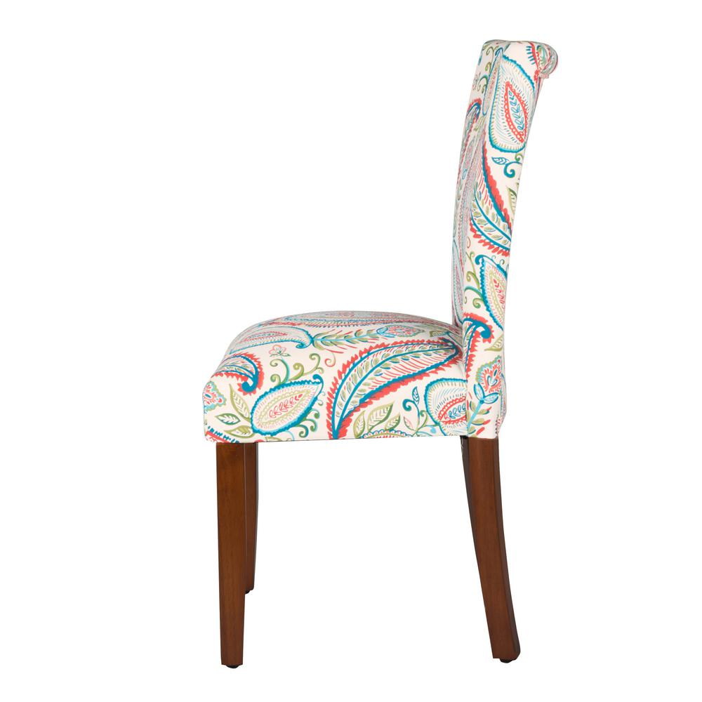 Multi color paisley parson dining chairs