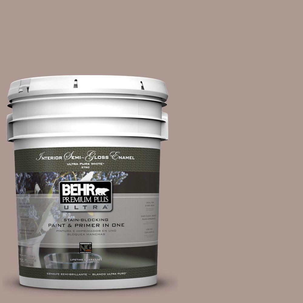 5-gal. #ECC-61-1 Desert Dusk Semi-Gloss Enamel Interior Paint