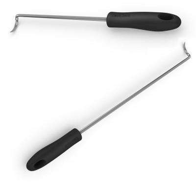 Pigtail Food Flipper Grilling Hooks - Large & Small Barbecue & Cooking Turner  - Replaces Grill Spatula Tongs & BBQ Fork
