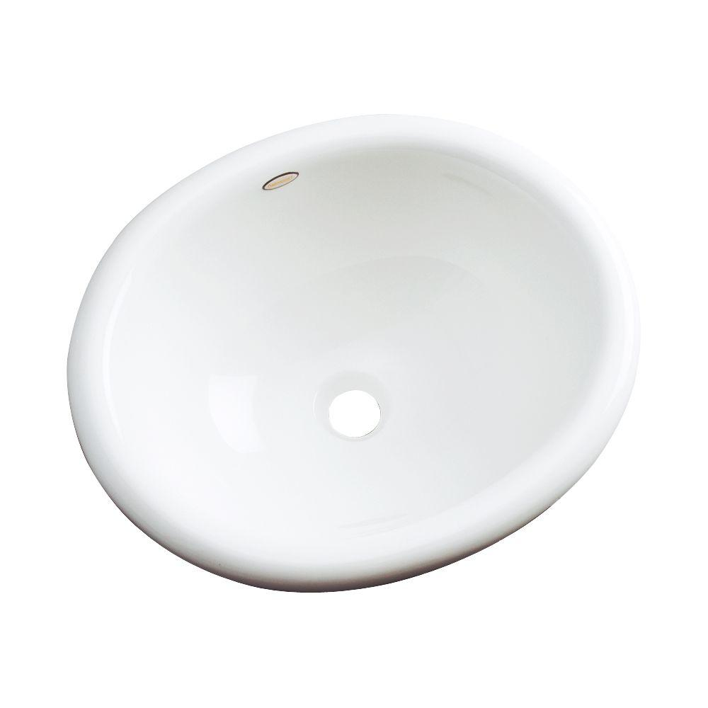 Thermocast Madeira Drop-In Bathroom Sink in White