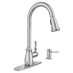 Fieldstone Single Handle Pull Down Sprayer Kitchen Faucet With Reflex And Powerclean In Spot