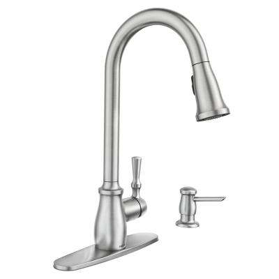 Fieldstone Single-Handle Pull-Down Sprayer Kitchen Faucet with Reflex and Powerclean in Spot Resist Stainless