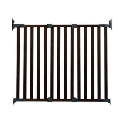 31 in. H Hardware Mount Gate Angle Mount Wood Safeway Wall Mounted Gate in Espresso